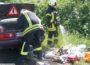 Fahrzeugbrand auf der B3 Höhe Nußloch mit geringem Sachschaden