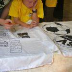 Friedrichstift Leimen: Fahnenmaltag mit dem SVS - Eigene Fanfahnen erstellt