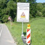 Es wird ernst: Seit heute früh Großbaustelle und Straßensperrung der L 600 Höhe Lingental