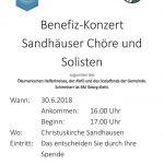 Benefizkonzert am 30.6. in Sandhausen