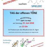 Tag der offenen Töne am Samstag: Musikverein St. Ilgen läd ein