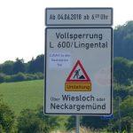 Landgut Lingental auch während der Vollsperrung der L600 direkt anfahrbar