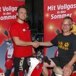 Sportstudio Clever Fit verloste Motorroller: Gewinner Matthias Gunsch aus Nußloch
