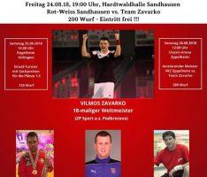 50 Jahre Kegelclub Rot-Weiß Sandhausen – Weltmeisterteam Zavarko kommt