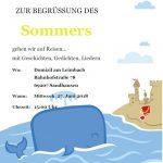 Für Senioren am Mittwoch: Urlaubsstimmung im Domizil am Leimbach