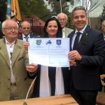 Partnerschaftsurkunde unterzeichnet  </br>Leimener Delegation nach Kunin eingeladen