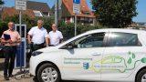 E-Mobilität in Sandhausen: </br>Neue Ladesäule am Rathausplatz