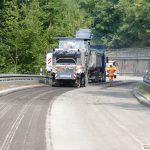 Zufahrt Leimen-Lingental gesperrt - Alte Fahrbahn bereits weggefräst