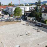 Neugestaltung des Willi-Laub-Platz: Arbeiten schritten trotz großer Hitze gut voran