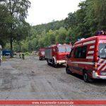 Brannte es im Leimener Wald? </br>Feuerwehr-Großübung an gesperrter L600