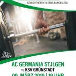 Heben Bundesliga: Letzter Heimkampf der Diljemer Germanen gegen Grüstadt