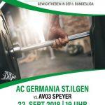 Gewichtheben: Samstag kommt die Deutsche Meistermannschaft nach Dilje