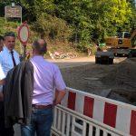 Großbaustelle L 600 Lingental: OB Reinwald überprüfte Stand der Arbeiten