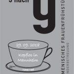 """Ökumenisches Frauenfrühstück """"5 nach 9"""" am 29.09.2018"""