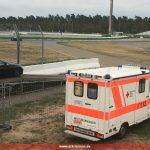 Leimener RTW sichert zusammen mit Hockenheimer Motodrom-Rettungswagen McLaren GT Series