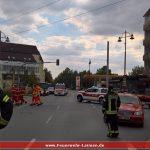 Feuerwehrabteilung Leimen sichert Kerweumzug und Feuerwerk ab