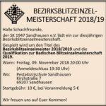 Schachklub Sandhausen - 1. Spieltag in der Verbandsliga:Karlsruher SF - SKS 5,5 : 2,5