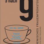 """Ökumenisches Frauenfrühstück """"5 nach 9"""" am 10. November"""