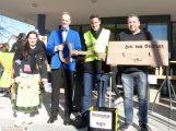 Hexen vom Grobrunn übernehmen neuen extraschweren Nußlocher Rathausschlüssel