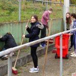 TV Germania fleißig beim Herbstputz im Waldstadion St. Ilgen