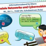 """Infoveranstaltung für Eltern zum Thema """"Soziale Netzwerke und Cyber-Mobbing"""""""