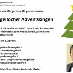 Adventssingen mit Star-Tenor in Gauangelloch am 3. Advent