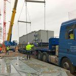 Gärrest-Konditionierer für die neue AVR Bioabfall-Vergärungsanlage montiert