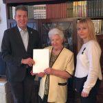 Anna Hiznak zum 90. Geburtstag - </br>OB Hans Reinwald gratulierte persönlich