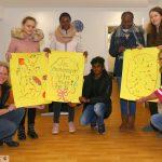 Klasse 9a der Otto-Graf-Realschule Leimen spendet der Leimener Tafel 500 Euro