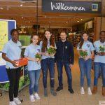 Eine Rose für den Frieden - Aktion von Otto-Graf-Realschule und EDEKA Walter