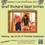 """Lustspiel """"Graf Richard lässt bitten"""" - 23. März Festhalle Sandhausen"""