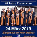 Jubiläumskonzert - 40 Jahre Frauenchor der Liedertafel Leimen