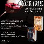 22. März: Autorenlesung Wine & Crime im Weingut Adam Müller
