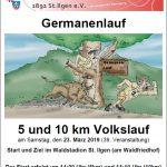 Germanenlauf / Volkslauf über 5 und 10 km am Samstag, 23. März in St. Ilgen