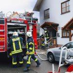 Kellerbrand in Nußloch - Feuerwehren aus Nußloch und Sandhausen im Einsatz