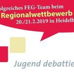 Erfolg des Jugend-debattiert-Teams des FEG beim Regionalwettbewerb in Heidelberg