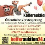 Kofferauktion - Öffentliche Versteigerung von Fundsachen in Sandhausen