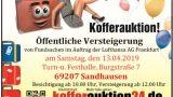 Kofferauktion – Öffentliche Versteigerung von Fundsachen in Sandhausen