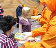 500 Teilnehmer bei Katastrophen-Großübung – Notfallstation in Wieslocher Schulzentrum