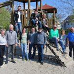 Spielplatztour der CDU Sandhausen - </br>Lob für gute Ausstattung und Pflege