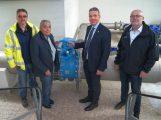 Neue zentrale Wasser-Förderleitung der Hardtgruppe in Leimen in Betrieb genommen