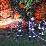 Zwischen Leimen und Nußloch – </br>Gartenhaus brannte vollständig nieder