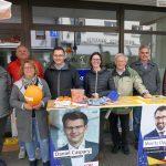 """Straßenwahlkampf in Sandhausen - Baustelle hält die """"Kämpfer"""" auseinander"""