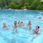 Freibaderöffnung bei wunderbaren 24° - Aber nur im Wasser, die Luft war deutlich kälter