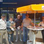 CDU-Wahlkampf vor dem Mix-Markt Leimen