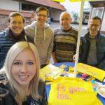 FDP mit Infoständen in Leimen präsent