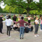 Leimener Otto-Graf-Realschüler mahnen in Niederbronn-les-Bains zum Frieden