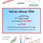 Samstag: Tag der offenen Töne beim Musikverein St. Ilgen