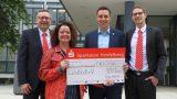 Sparkasse Heidelberg spendet 2.500 Euro an Lichtblick e.V. in Nußloch für Tafelladen