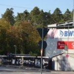 Abholzung am BWT-Stadion in Sandhausen